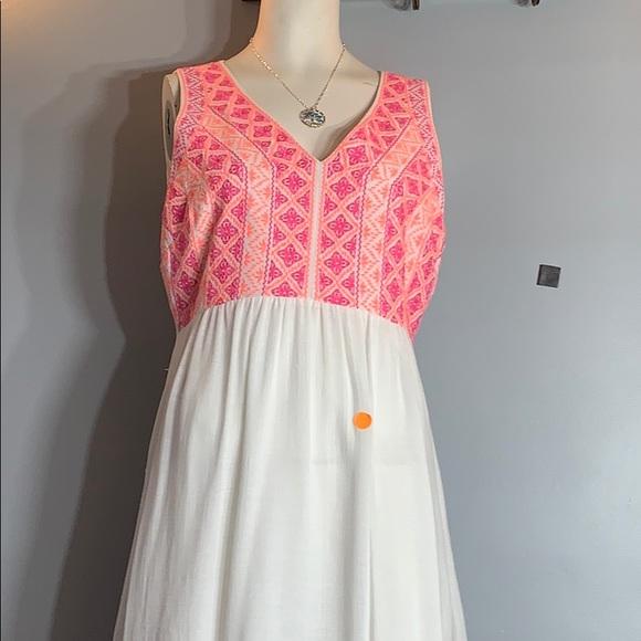 Vineyard Vines Dresses & Skirts - Vineyard vines summer maxi dress pink coral white